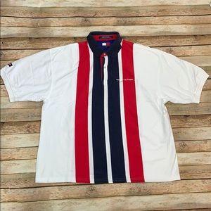 Vintage Tommy Hilfiger Striped Polo Shirt